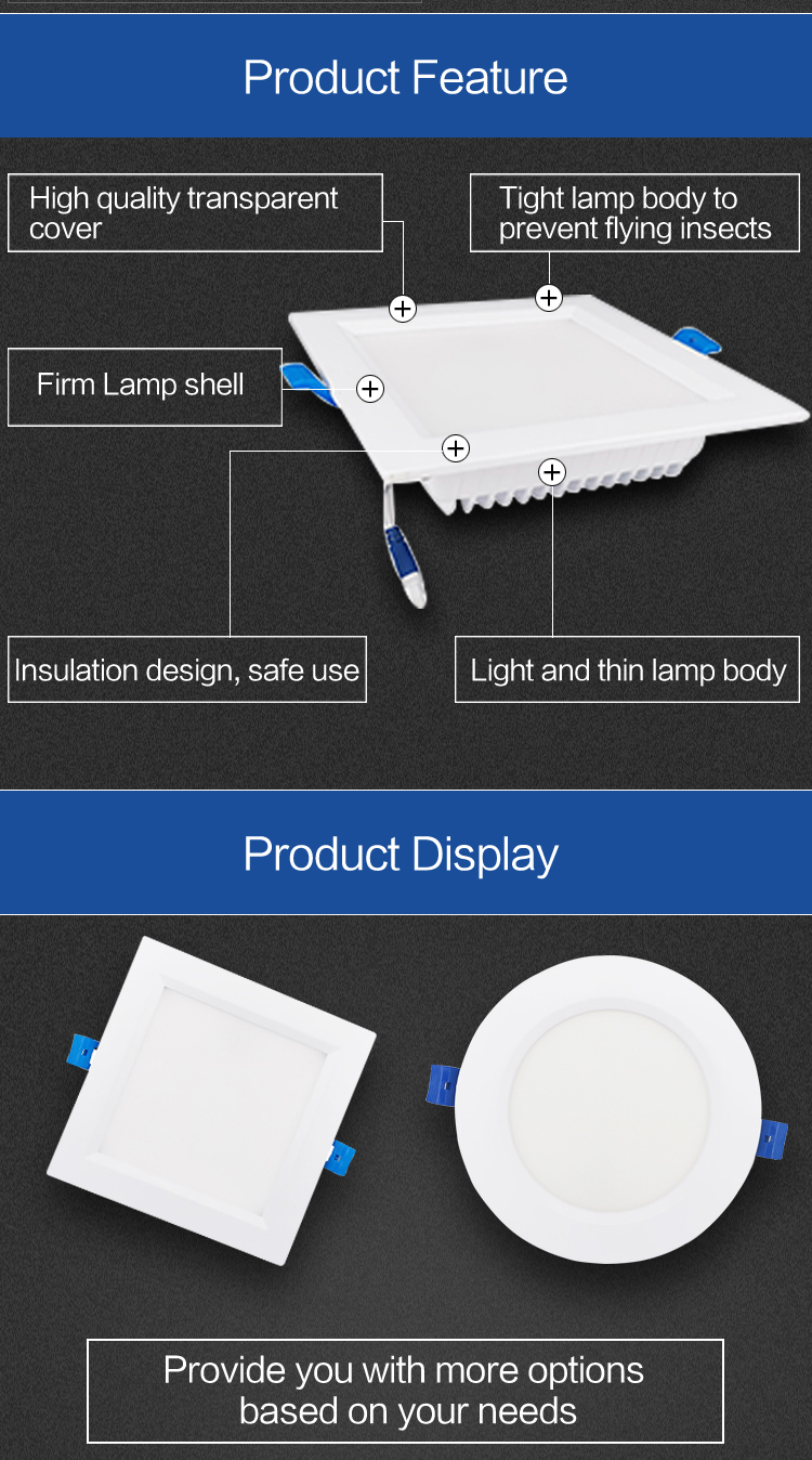Recessed led 8w panel mounted light philippines