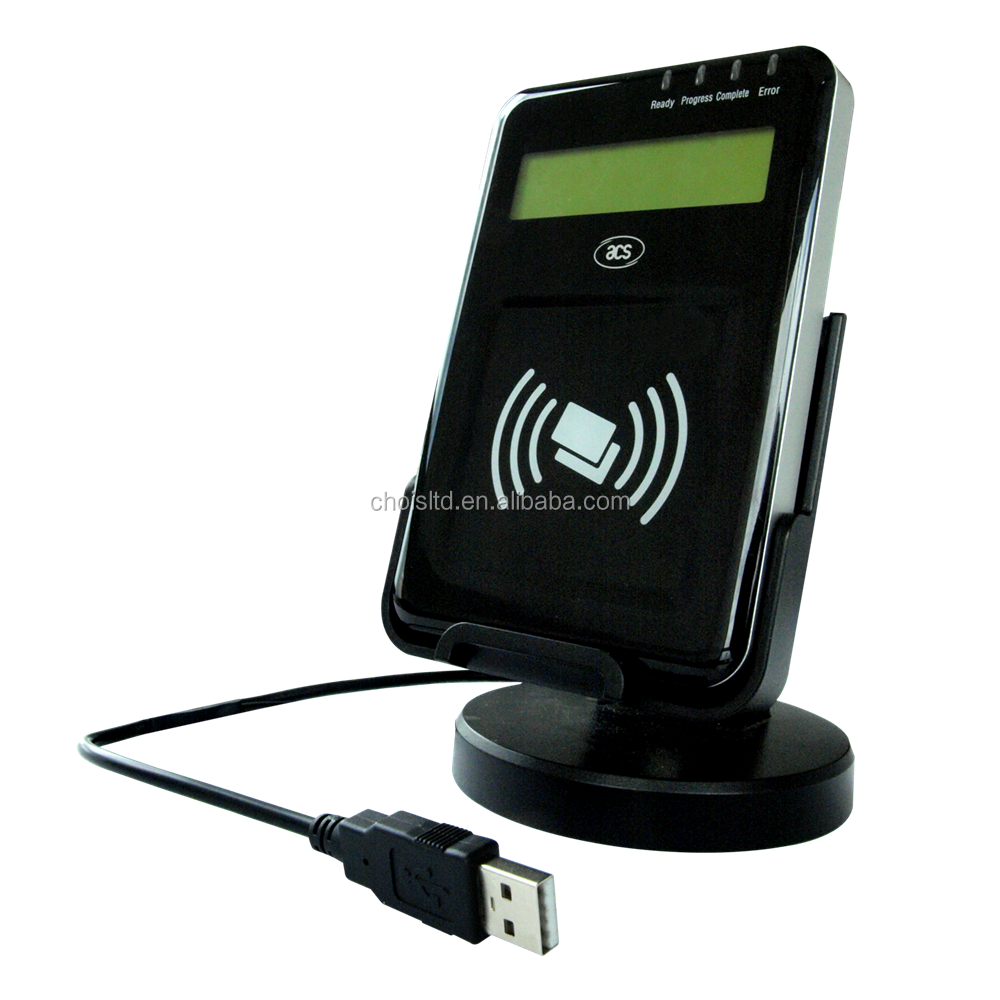 ACR1222L VisualVantage USB NFC Reader with LCD, Support ISO14443,MIFARE, FeliCa, NFC Tags