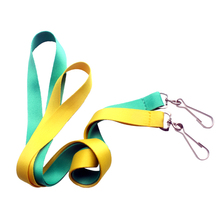 Satin Sublimation Lanyard Polyester Material Webbing Neck Strap <strong>W</strong>/J Hook Attach