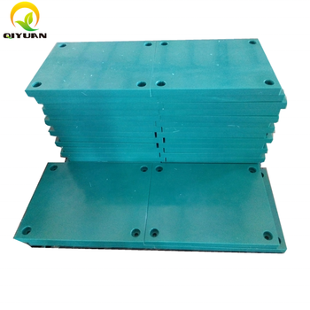 high wear resistant blue uhmwpe face pads for cone fender