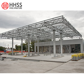 Low Cost Of Best Design Space Frame Canopy For Gas Station