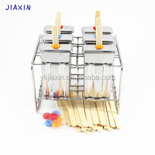 stainless steel 6pcs popsicle mold set