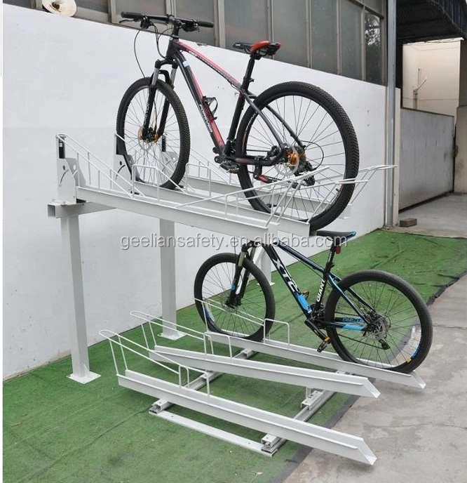 Australia Best-Selling Outdoor vertical Bike Rack two layer Bike Stand, 2 tier bicycle Rack With Lock