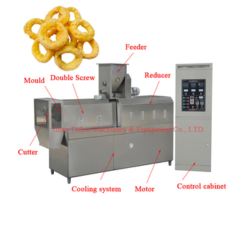 Extruder machine production line for crispy ring rice snack
