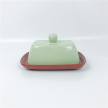 Ceramic Butter Dish With Handle Cover, Modern Design for Kitchen, Dining Room