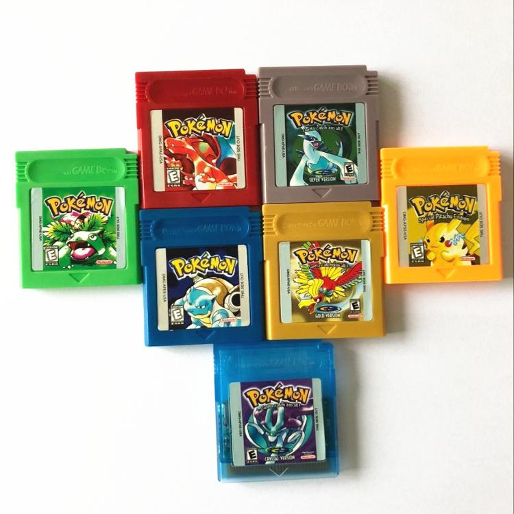 Cartridge only video games pokemon for gbc pokemon red blue green gold sliver crystal yellow
