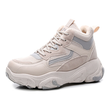 women's fashion winterized sneakers casual <strong>flat</strong> with plush