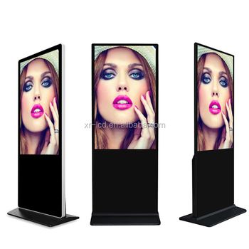 Vertical android internet floor standing interactive tv advertising lcd ad