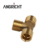 The External Thread Brass Tee Fittings for plumbing OEM customized