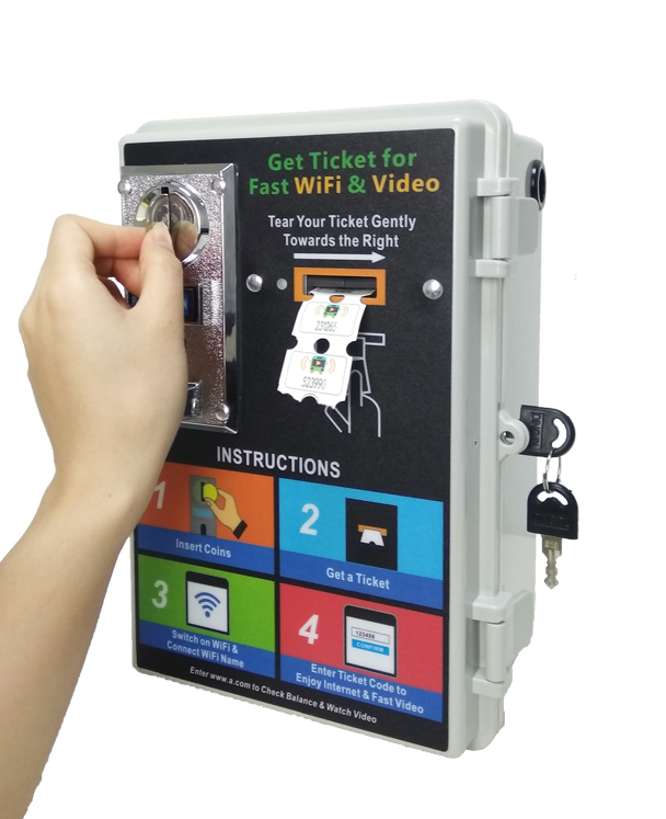 2019 Hot New Product Coin Ticket Token Coin Acceptor 4G Bus WiFi Video With Local Video