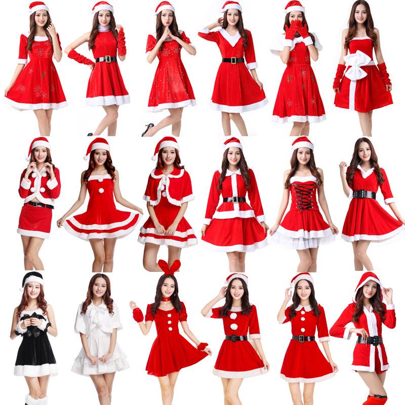 Un tamaño señoras para mujer Miss Claus Navidad Fiesta Navidad Disfraz Elaborado Vestido