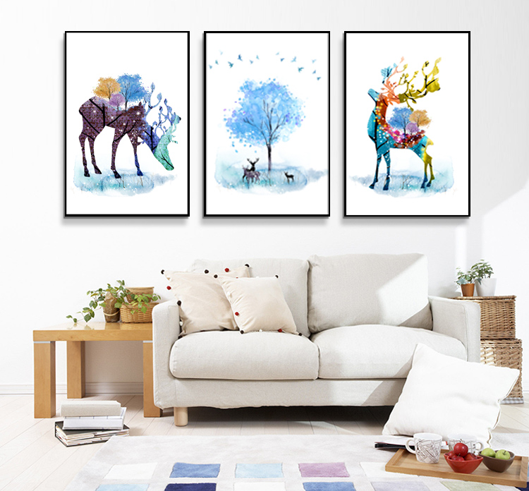 Mass Production Beautiful Scenery Wall Art Abstract Oil Painting For Indoor Decoration