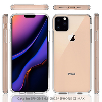 "TPU+Acrylic Clear Transparent Mobile Cover Phone Case for Apple iPhone XI Max 6.5"" 2019 11 Max XS2 Max"