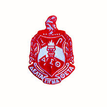 Free Sample Heat Cut Border100% Full Embroidered Delta Sigma Theta <strong>Iron</strong> on Embroidery patch