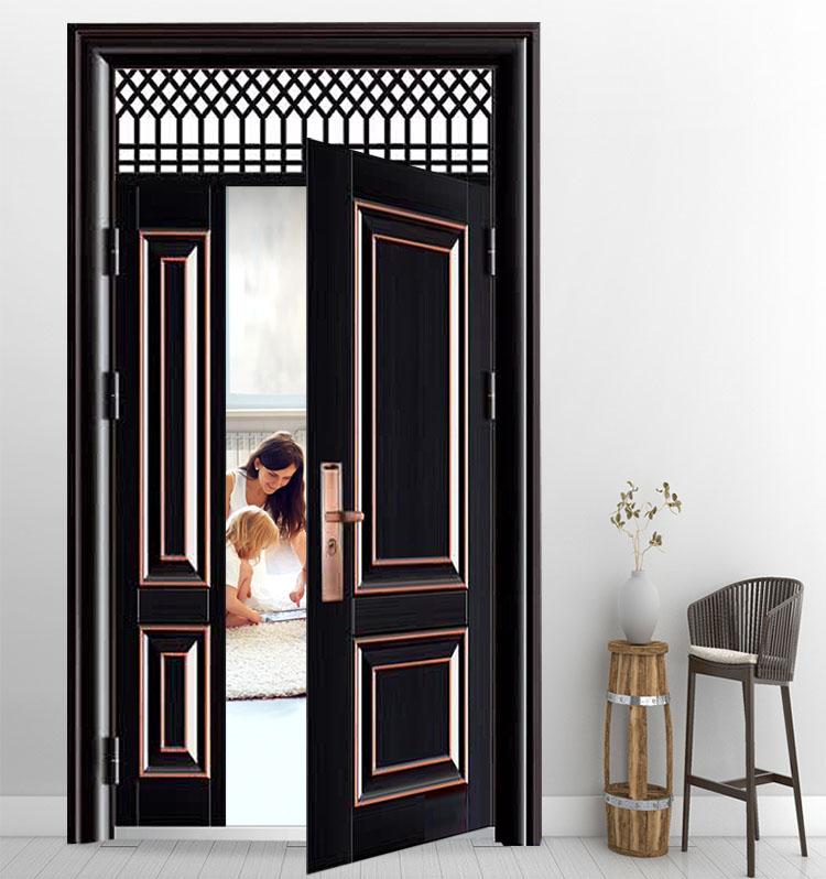 House Main Exterior Steel Security Door Entry Metal Single Door Design