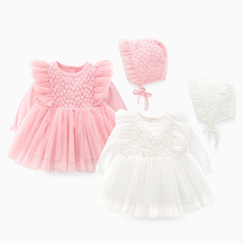 New Born Baby Girl Clothes Sets Formal Lace Baptism Dress Baby Girl for Party Wedding <strong>0</strong> 3 6 Months Infant Christening Dress