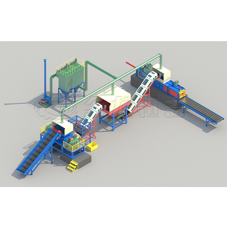 large <strong>waste</strong> crushing and sorting line/large <strong>waste</strong> furniture recycling production line