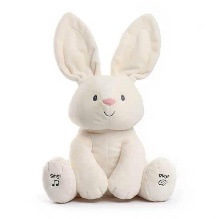 Hot Amazon musical animated plush toy peekaboo <strong>rabbit</strong>