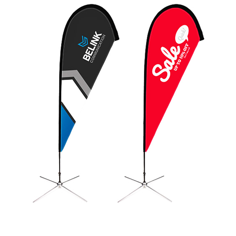 Promotional Usage Advertising Exhibition Event Outdoor Feather Flag Flying Beach Flag Banner Stand Teardrop Flag