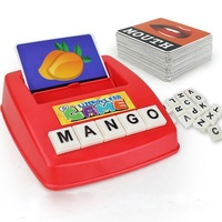 Educational toys english word learning spelling matching board games for kids early education