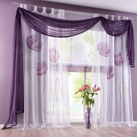 I@home hand painted spray terylene yarn voile wholesale curtain living room
