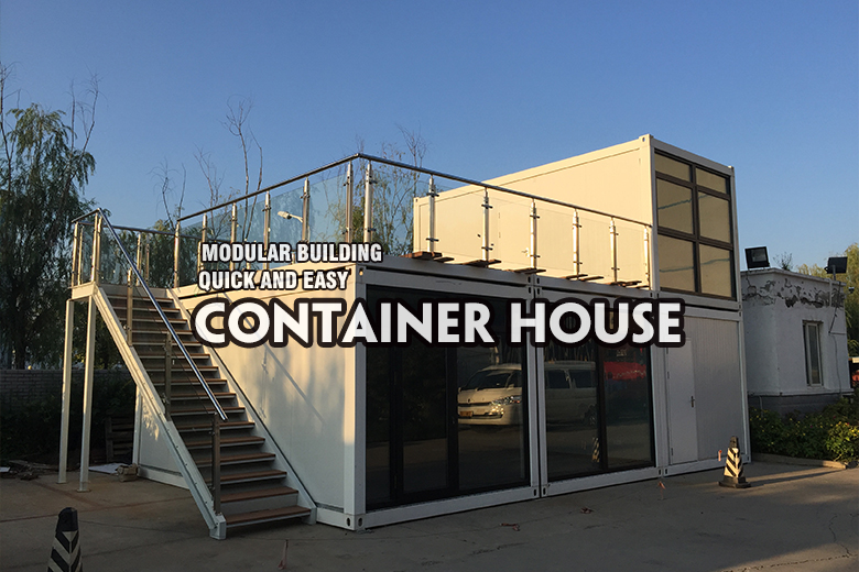 Luxury folded prefab house shipping container house prefabricated