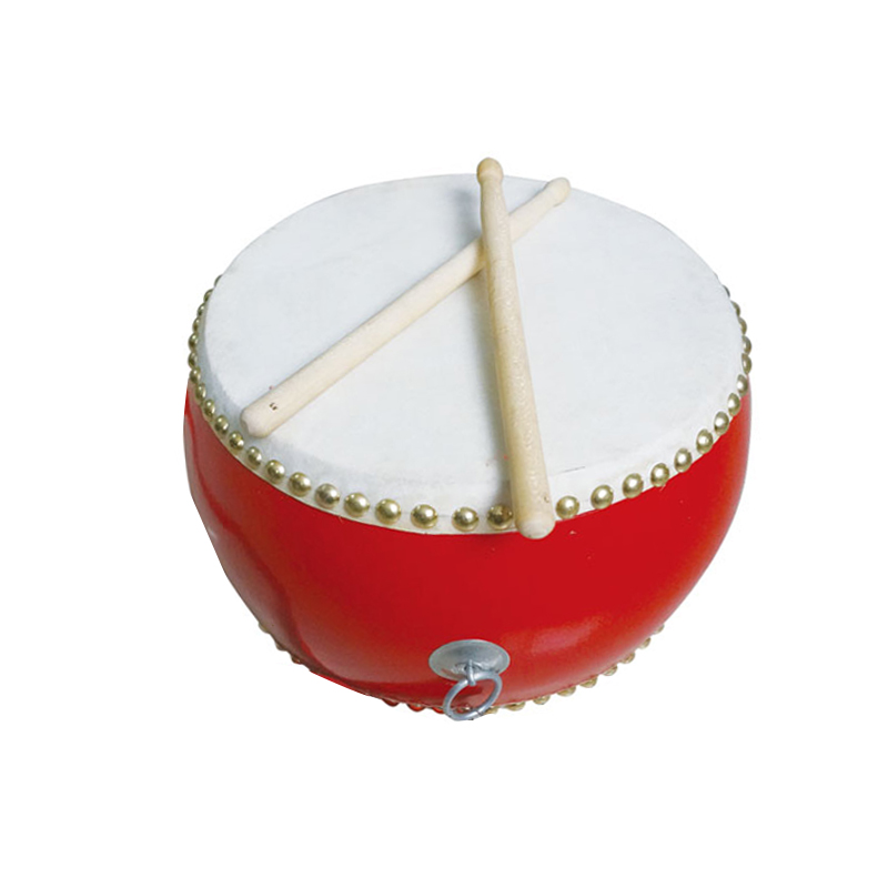 kids musical instrument red chinese big floor drum festival drum