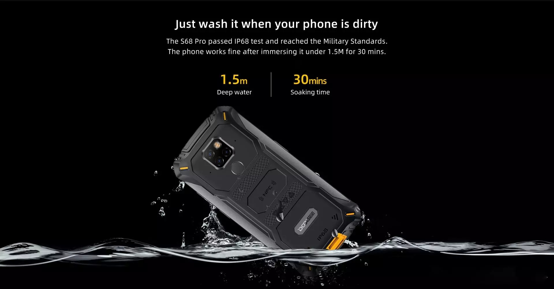 "Doogee S68 Pro 6GB 128GB MTK Helio P70 Octa-core  Wireless Charge 5.84"" IPS Display 6300mAh 12V/2A Smartphone"