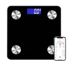 Pinxin Black 2*AAA Battery LCD Bluetooth Smart <strong>Scale</strong> 180kg/396lb Body Fat Balance Digital Weighing <strong>Scale</strong>