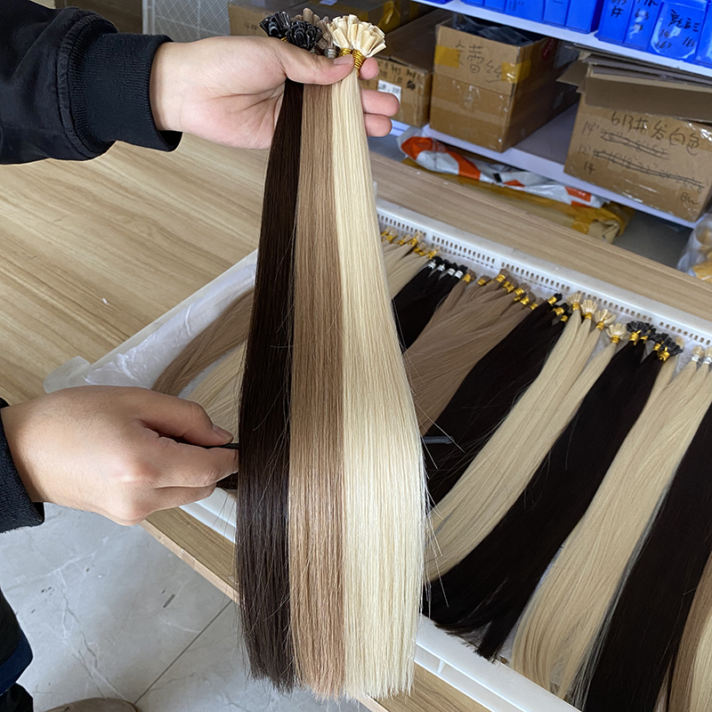 LeShine Keratin u Tip Hair Extension, Pre Bond Nail Tip Hot Fusion Hair <strong>Human</strong>, Remy Virgin Prebonded Utip Hair Extensions