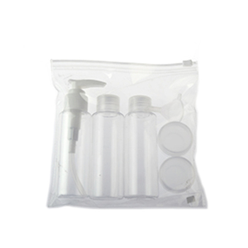 perfume packing PET bottle travel set for cosmetic