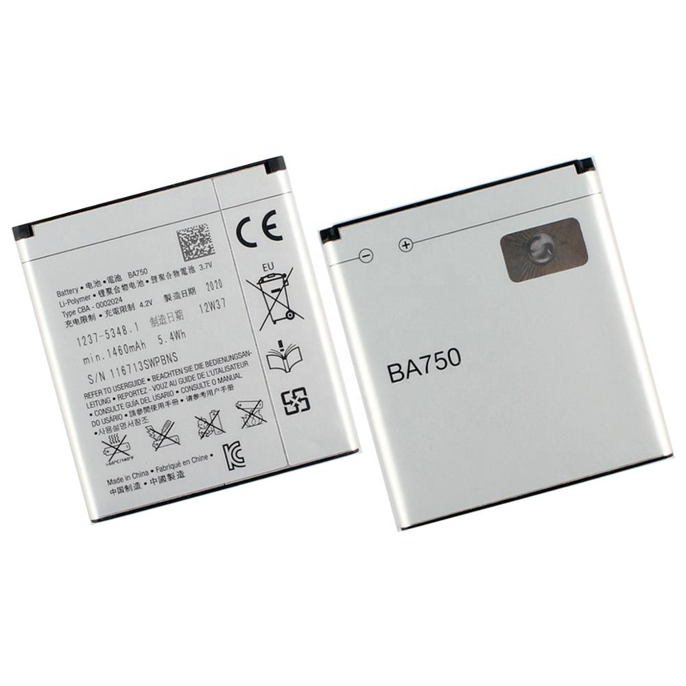 Original High Capacity BA750 Phone Battery For Sony Ericsson Xperia Acro <strong>Arc</strong> S LT18i <strong>X12</strong> LT15i 1460mAh