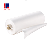 Nonwoven microfiber cleaning wiper in roll