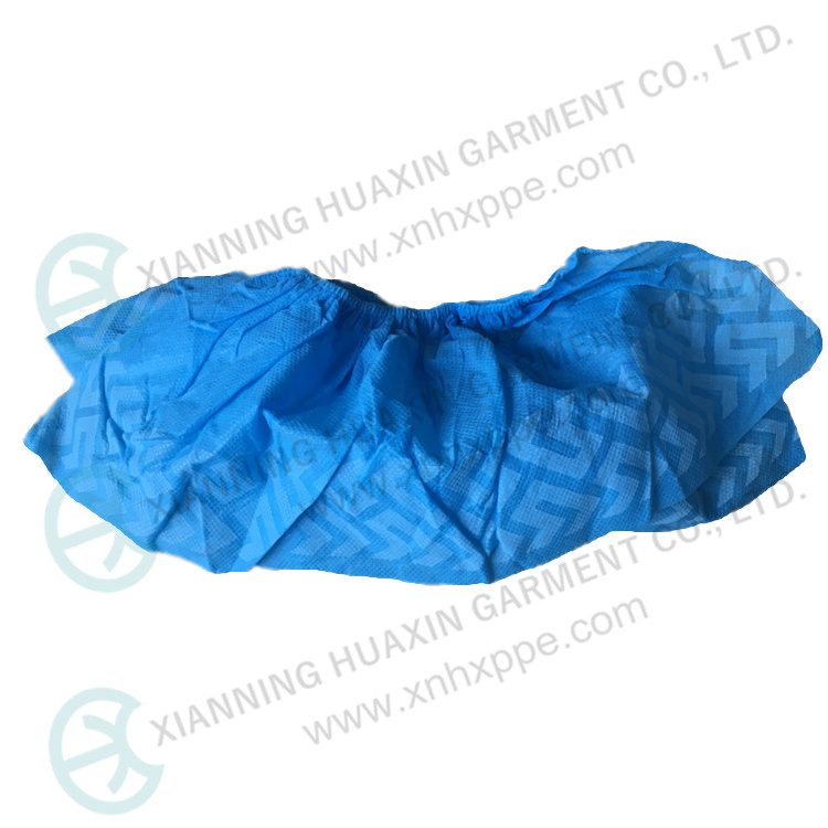 Disposable PP Shoecover with Embossed Sole