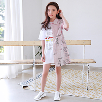 2020 summer Fashion Cotton Newly girls%27+dresses Kids korean design casual kids clothes girl dress