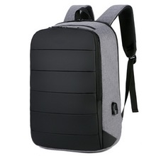 Business style Custom USB Backpack Laptop Travelling Anti-theft Smart Backpack