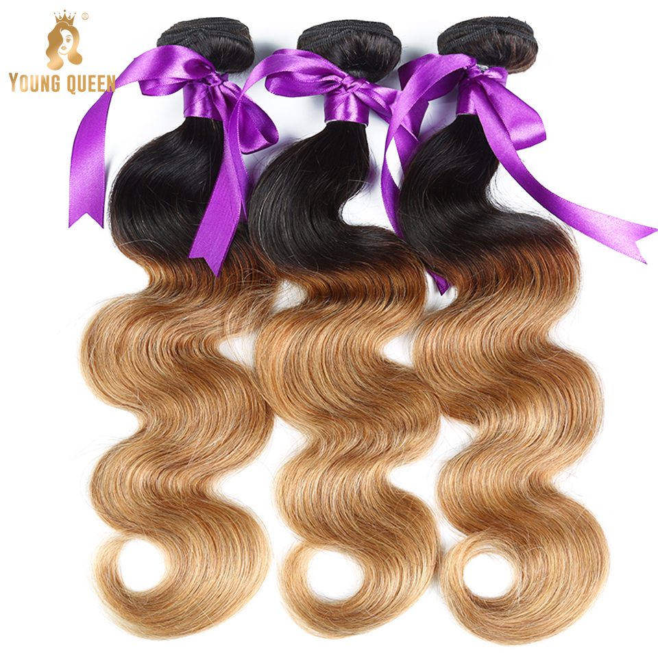 factory sale Young Queen cheap hair bundles 1b 4 27 body wave cuticle aligned hair raw wholesale virgin hair vendors bundles