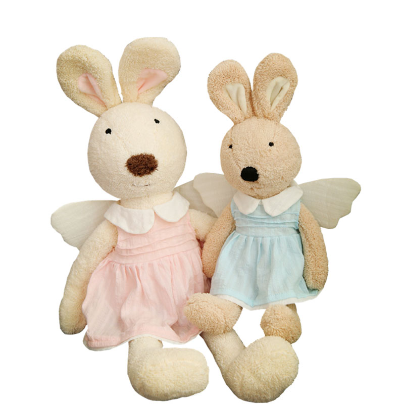 wholesale high quality plush stuffed toy long ear <strong>rabbit</strong> with angle skirt for baby gift