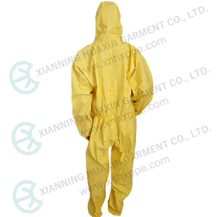EN14126 Taped Seam PE SMS Acidproof Protection Coveralls
