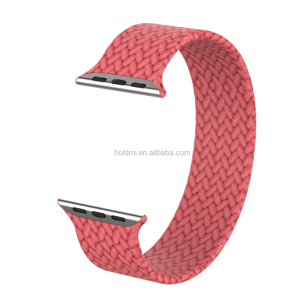 ODM Holdmi new product 7061 series braided fabric 6 popular colors watch strap for applewatch