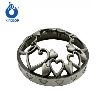 Valentine Day Collection Hearts Metal Jar Candle Topper Dome Shape Illuma Lid