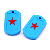 Promotion Factory Price For Baby Chewing Toys Brick Stick Silicone Teether Pendant