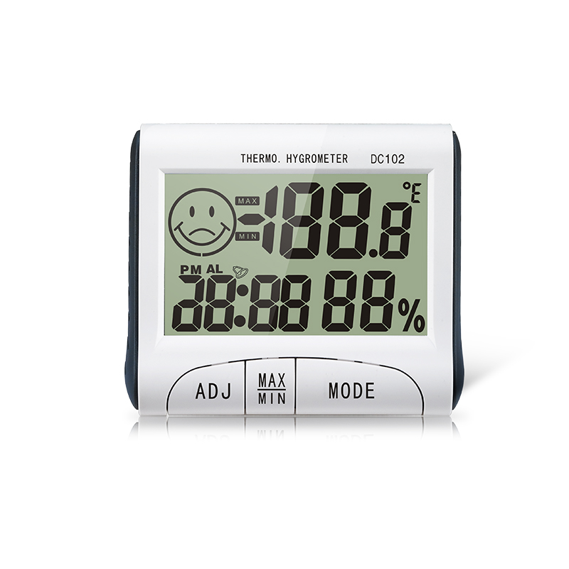 Best-sell Temperature Humidity Alarm Clock with Magnetic DC <strong>102</strong>