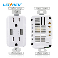 15A/20A American Standard Electrical Socket UL Approved Tamper Resistant Receptacles Optional Night Light Free Wall Plate
