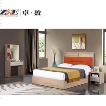 Queen size bed with hydraulic lift hardware storage MDF bed set <strong>furniture</strong> bedroom set