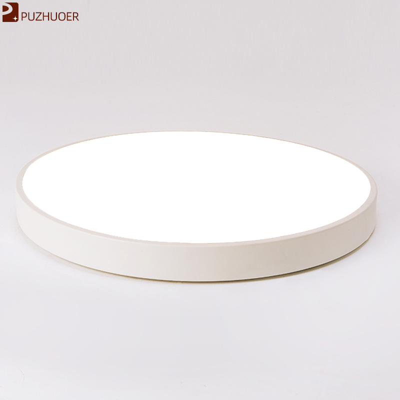 Dimmable led light PUZHUOER 24W 300mm Voice Smart/Remote Control Lamparas De Techo Surface Mounted Ceiling Lamp