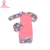 New Girls Shower Raglan Baby Gown Long Sleeve leopard Printing Baby girl Ruffled bottom raglan Gowns 2019