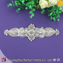 HC-1882 Hechun bigger factory make crystal rhinestone embellishment applique