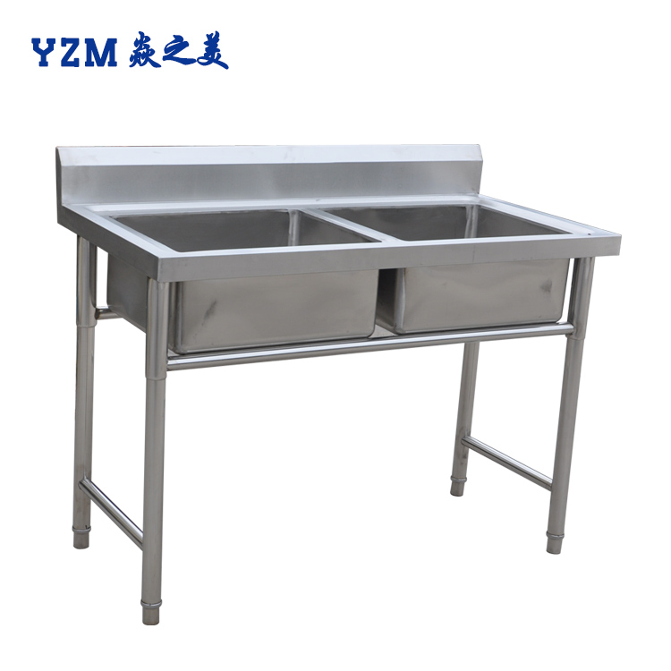 Stainless Steel Commercial Single/Double Bowl Sink Work Bench/Kitchen Working Table