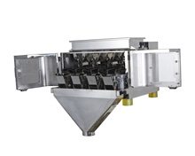 Mini Low cost semi-auto products feed weigh manual fill premade pouch band sealer packing line machine for beans, dogfood, <strong>rice</strong>